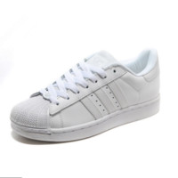 """Adidas"" Fashion Shell-toe Flats Sneakers Sport Shoes White"