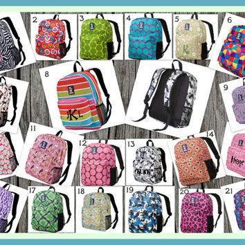 Personalized Backpack Back to School - Monogrammed
