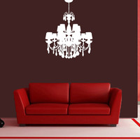Wall Decal Vinyl Sticker Decals Art Decor Design Chandelier Luster Light Living room Bedroom Modern Mural Fashion (r727)