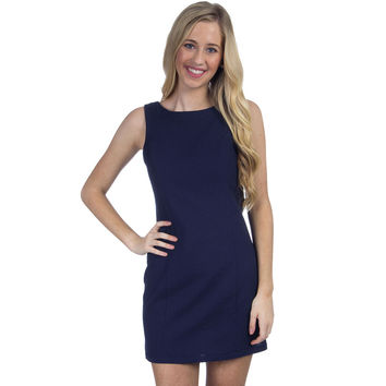 The Harper Solid Seersucker Dress in Midnight by Lauren James - FINAL SALE