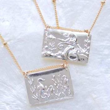 Seahorse or Mermaid Intaglio Necklace