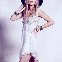 Free People Womens Shine So Bright Dress - Champagne