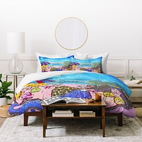 Renie Britenbucher Beached Mermaids Duvet Cover