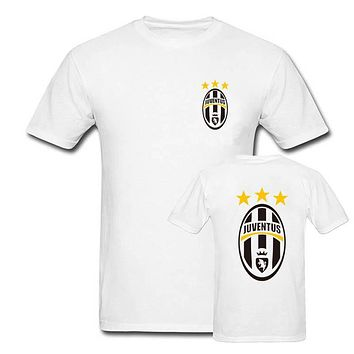 summer t-shirt Andrea Juventus T shirt men fashion short sleeves white tops cotton printed  tees plus size S-XXXL