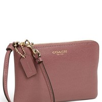 COACH 'Small' Leather Wristlet