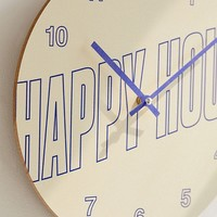 "Happy Hour 12"" Wall Clock 