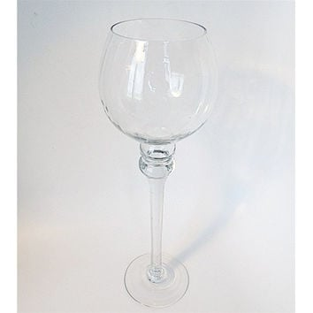 Goblet Glass Candle Holder Table Centerpiece, 16-Inch