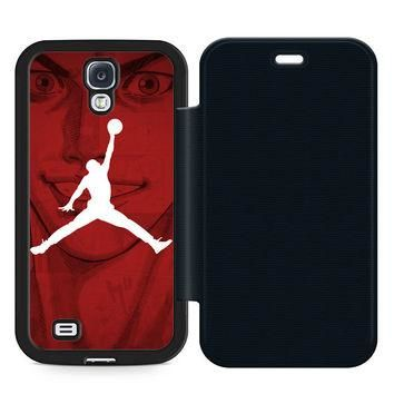 Slam Dunk air Jordan Leather Wallet Flip Case Samsung Galaxy S4