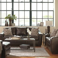 59001- The Coppell Living Room Set - Chocolate