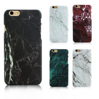 Hot Selling Fashion Marble Phone Case Hard PC Case for iPhone 6 6S 6 Plus 5 5s Cover Coque Ultrathin Smooth Back case cover