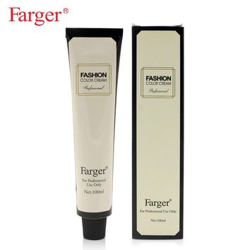Farger free shipping permanent hair dyeing non-toxic health hair style cream hair color dye cream  100ml