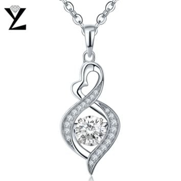 YL Topaz Natural Stone 100% 925 Sterling Silver Fashion Fine Jewelry with Dancing Topaz Pendants Necklaces for Women Wedding