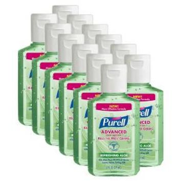 Purell Advanced Hand Sanitizer Refereshing Aloe - 2 fl oz (12 Pack)