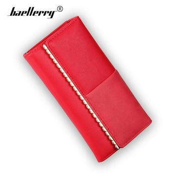Baellerry New 2017 Women Wallets Fashion Patchwork Lace Design Purse High Quality Leather Woman Wallet Female Long Clutch Bag