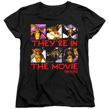 Gremlins 2 Womens T-Shirt They're in the Movie Black Tee