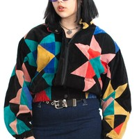 Vintage 80's Kaleidoscope Dream Suede Jacket - One Size Fits Many
