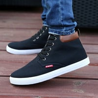 Men Casual High Top Shoes Canvas Sneakers,Men's Casual Sneakers,Board Shoes = 1741685828