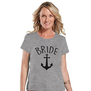 7 ate 9 Apparel Women's Nautical Bride T-shirt