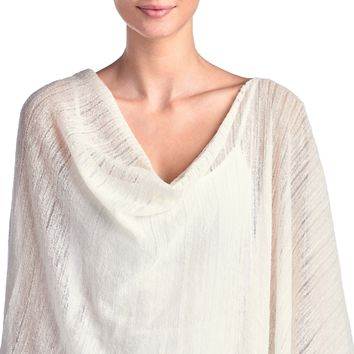 Light Weight Cashmere Alpaca Polyester Blend Poncho