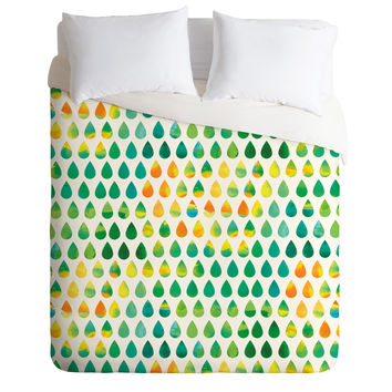 Budi Kwan Monsoon Rain Duvet Cover