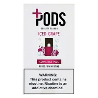 Plus Pods Iced Grape Pack of 4
