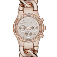 Michael Kors Rose Golden Runway Touch Of Glitz Watch