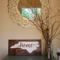 Wooden State Sign - Wooden Home Sign - Wood State Sign - State Home Sign - Home Sign - Housewarming Gift - Wedding Gift - Rustic Sign
