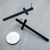Cross Earrings Cross Stud Earrings Cross Ear Stud Women   Men Jewelry Silver Gold Black Colors SM6