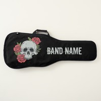 Tattoo Skull and Roses Personalized Guitar Case