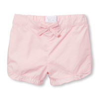 Toddler Girls Solid Ruffle Woven Shorts | The Children's Place