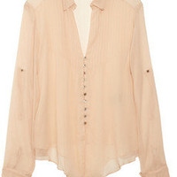 Elizabeth and James | Aaliyah silk-chiffon blouse | NET-A-PORTER.COM