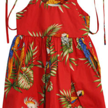 Parrots - Red Baby Dress