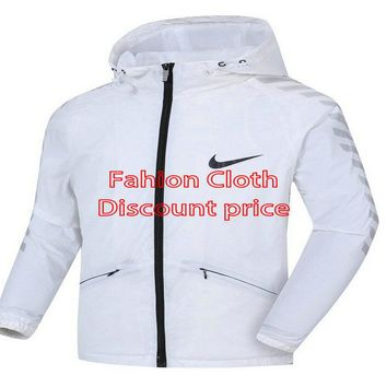 Nike Windrunner Jacket 8098 L-4XL 2018 Nike New Style Clothing White