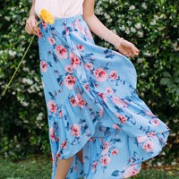 Helina Floral Ruffle Skirt