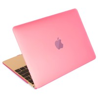 Mosiso New Macbook Case, Smooth Matte Finish Hard Shell Protective Case for MacBook 12 Inch with Retina Display A1534 [2016 / 2015 Release] (Pink)