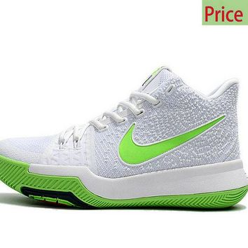 Latest and Cheapest Nike Kyrie 3  Mountain Dew White Light Green Voltage Green sneaker