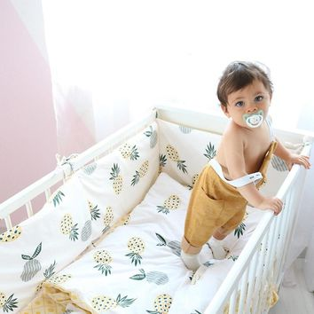 3 Pcs Baby Bedding Set Bed Linen For Children Pure Cotton Crib Cot Kit Include Duvet Cover Pillowcase Flat Sheet For Girls Boys