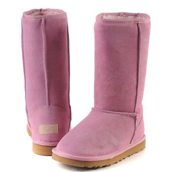 """UGG"" Winter Classic Fashionable Women Warm Wool High Snow Boots Pink I/A"