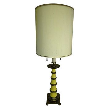 Pre-owned Faux Bamboo Enamel Table Lamp by Stiffel