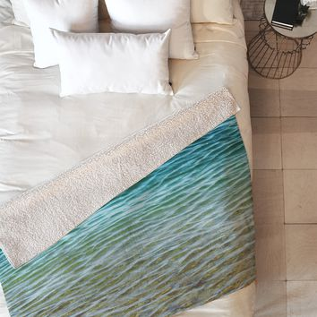 Shannon Clark Ombre Sea Fleece Throw Blanket
