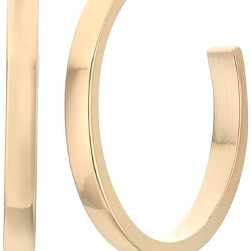 "GUESS ""Basic"" Gold Small Square Edge Hoop Earrings"