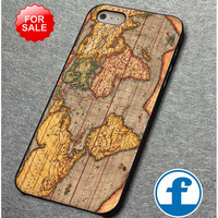 vintage world map (2)  for iphone, ipod, samsung galaxy, HTC and Nexus PHONE CASE