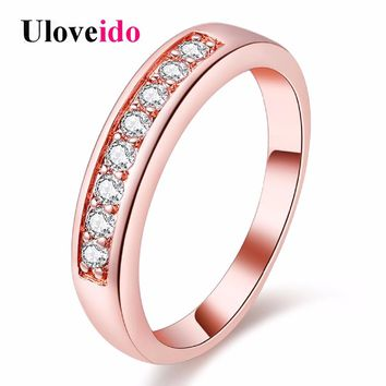 5% Off Uloveido Fianit Rings for Women Crystal Ring Silver Bijoux Jewelry Anelli Donna Ringen New Year Gift Bijouterie J294
