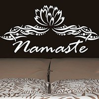 Wall Decal Vinyl Sticker Decals Mandala Namaste Lotus Flower Indian Lotus Yoga Wall Stickers Home Decor Art Bedroom Design Interior Wall Decor Mural C361
