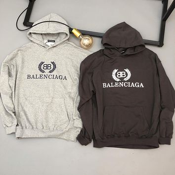 BALENCIAGA Popular Men Women Leisure Print Long Sleeve Sweater Sweatshirt
