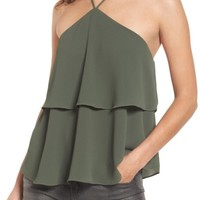 Love, Fire Tiered Halter Top | Nordstrom