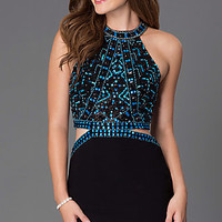 Short High Neck Homecoming Dress G445
