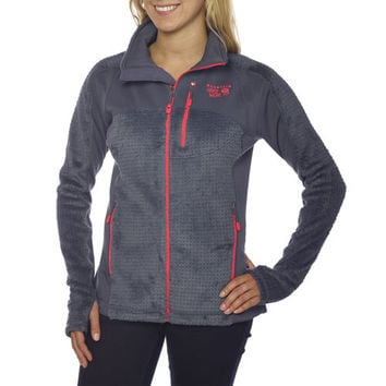 Mountain Hardwear Ladies' Hoodless Monkey Grid™ Jacket-Gray
