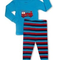 "Leveret ""Fire Truck"" 2 Piece Pajama 100% Cotton (4 Toddler)"