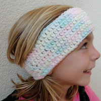 Ear Warmer Headband Rainbow Pastel